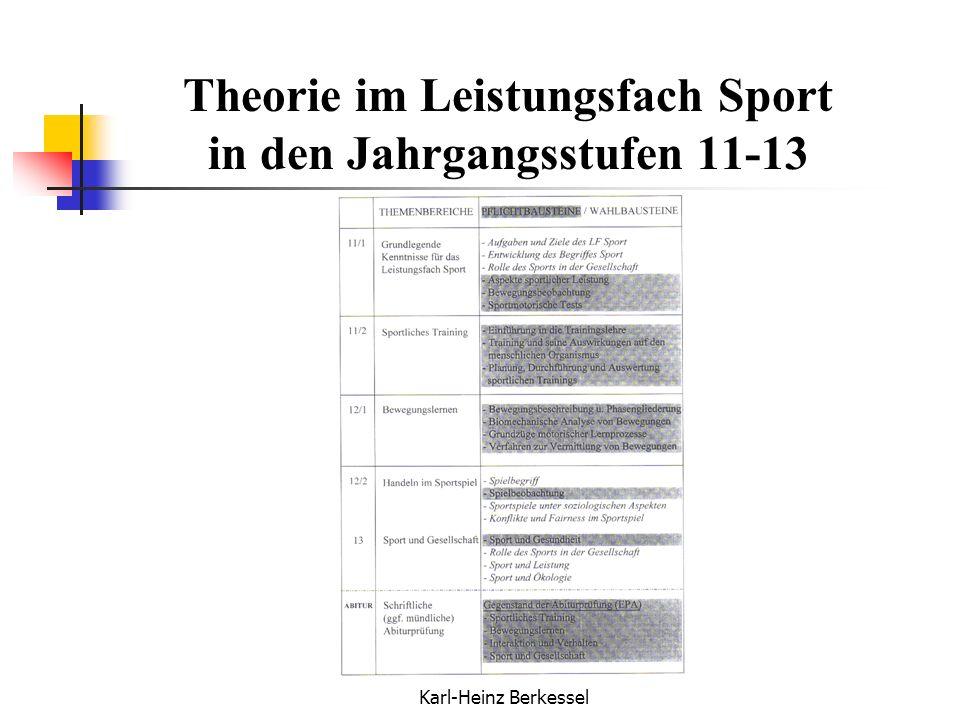 Theorie im Leistungsfach Sport in den Jahrgangsstufen 11-13