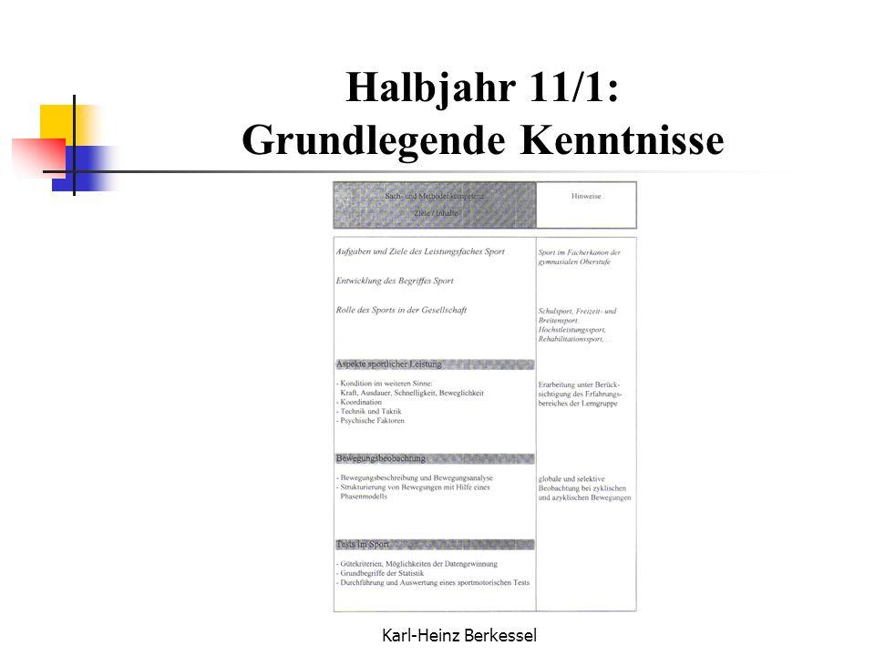 Halbjahr 11/1: Grundlegende Kenntnisse