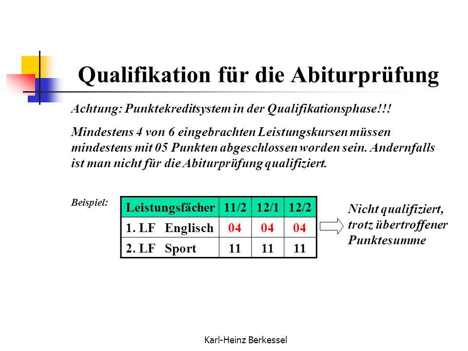 Qualifikation für die Abiturprüfung