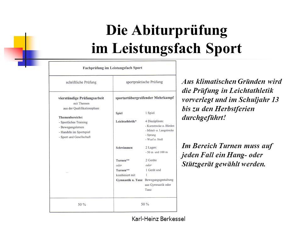 Die Abiturprüfung im Leistungsfach Sport