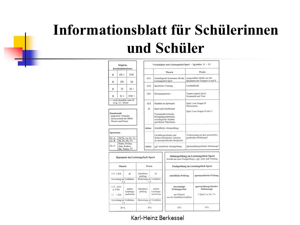 Informationsblatt für Schülerinnen und Schüler