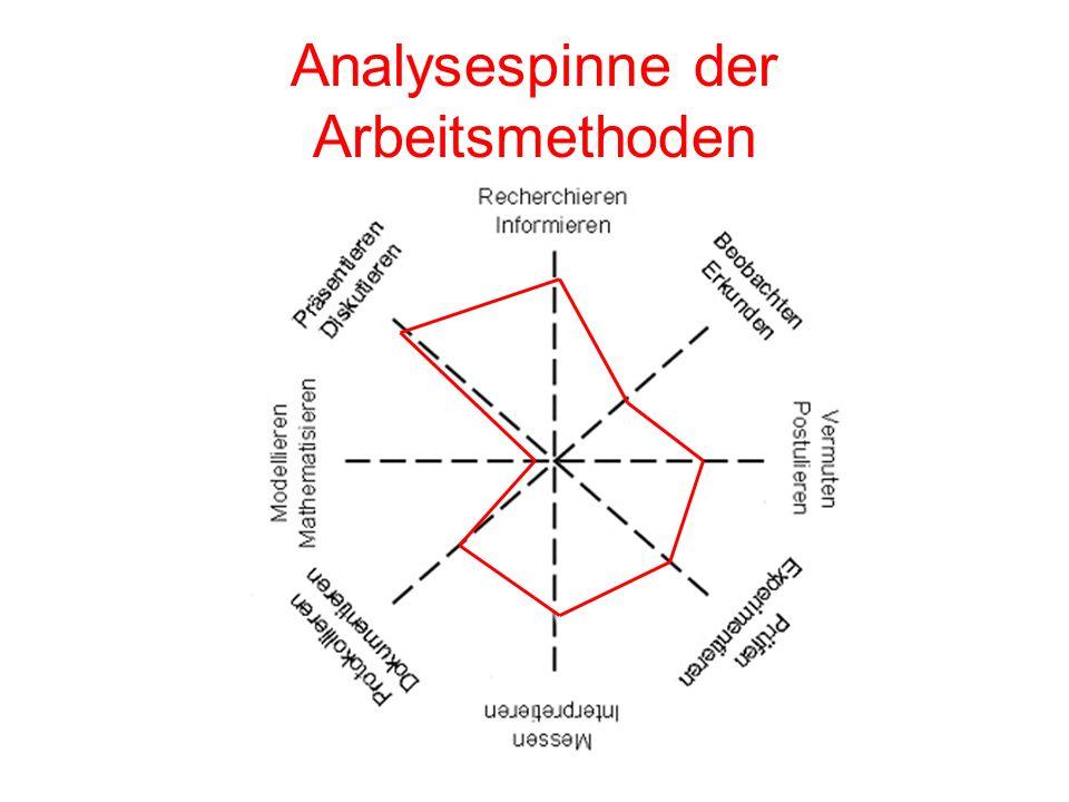 Analysespinne der Arbeitsmethoden