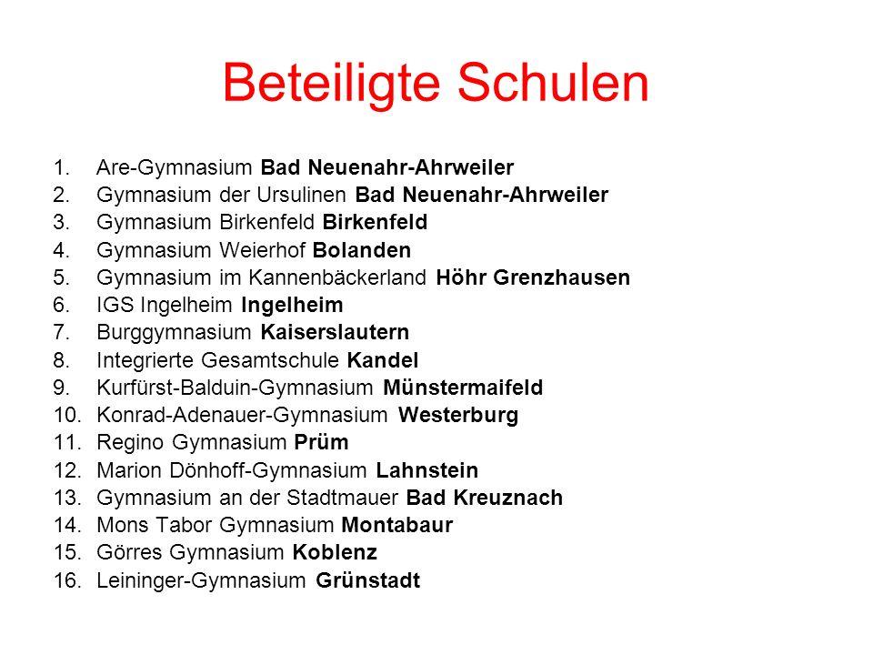 Beteiligte Schulen Are-Gymnasium Bad Neuenahr-Ahrweiler
