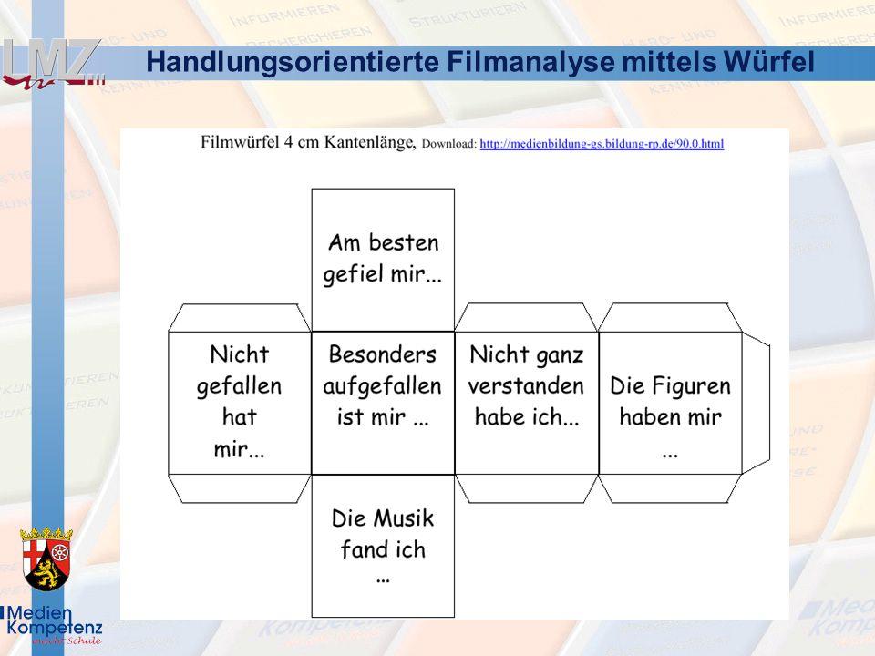 Handlungsorientierte Filmanalyse mittels Würfel