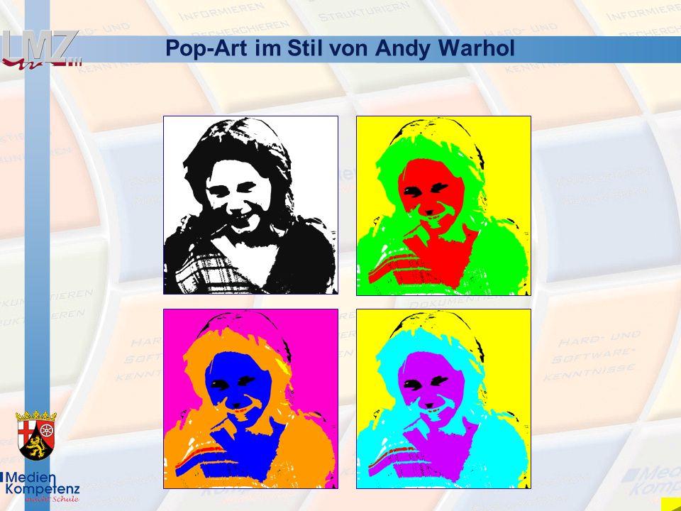 Pop-Art im Stil von Andy Warhol