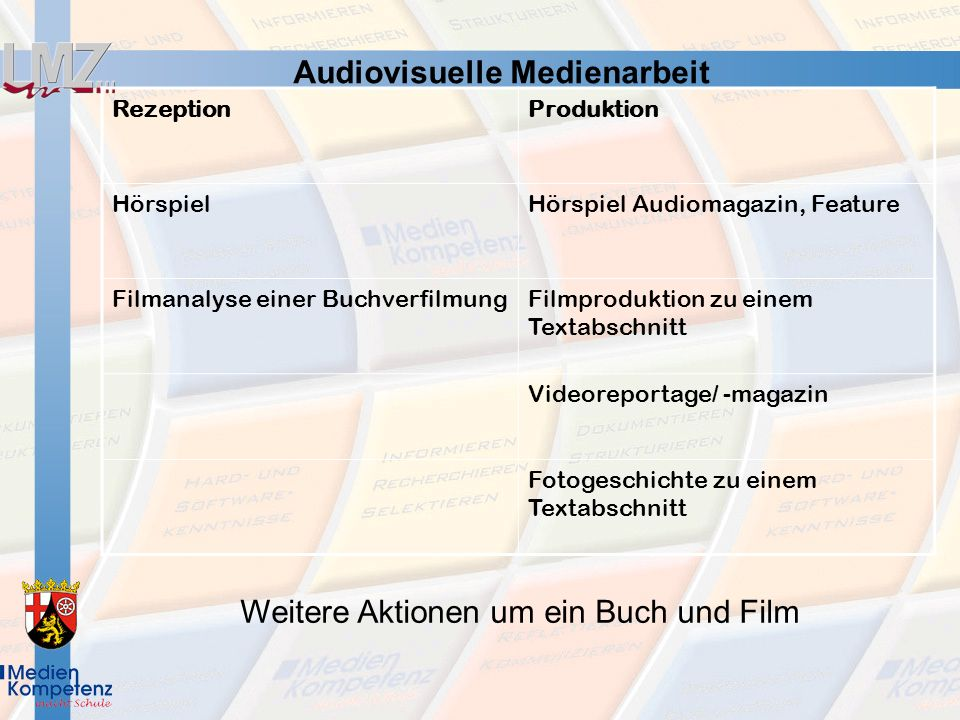 Audiovisuelle Medienarbeit