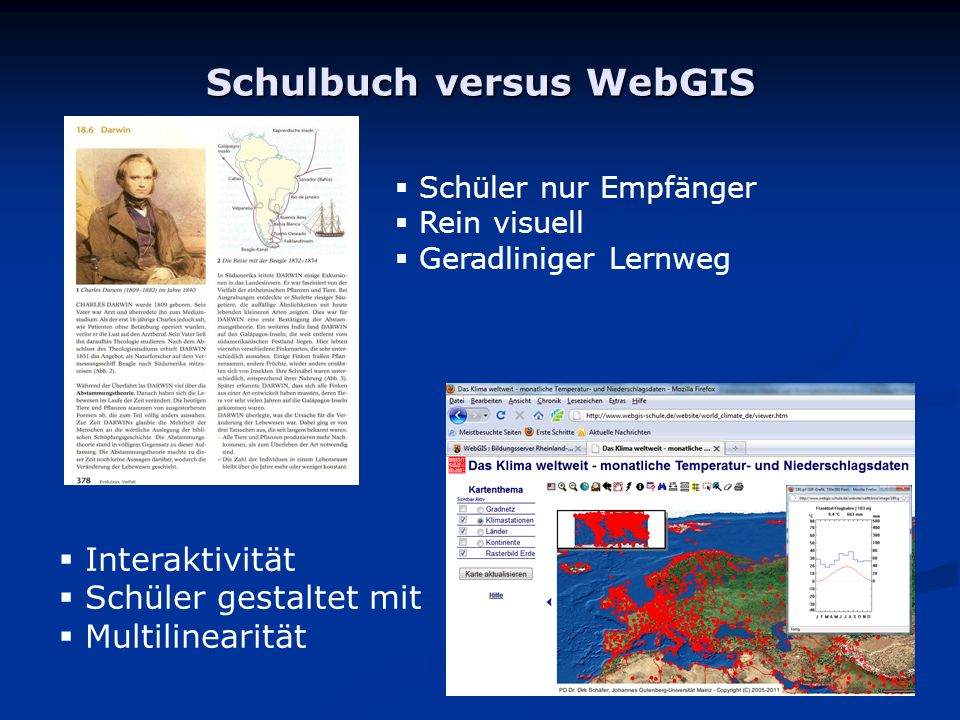 Schulbuch versus WebGIS