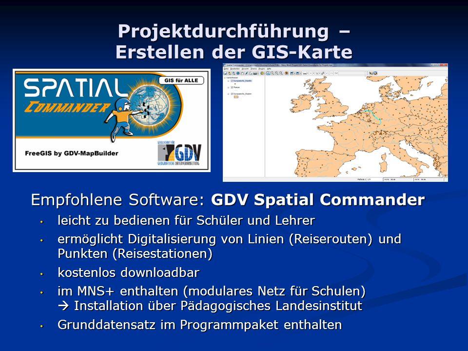 Projektdurchführung – Erstellen der GIS-Karte