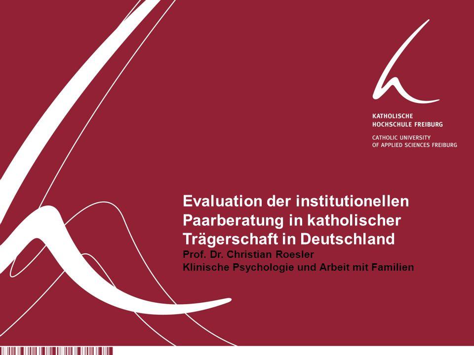 Evaluation der institutionellen Paarberatung in katholischer Trägerschaft in Deutschland