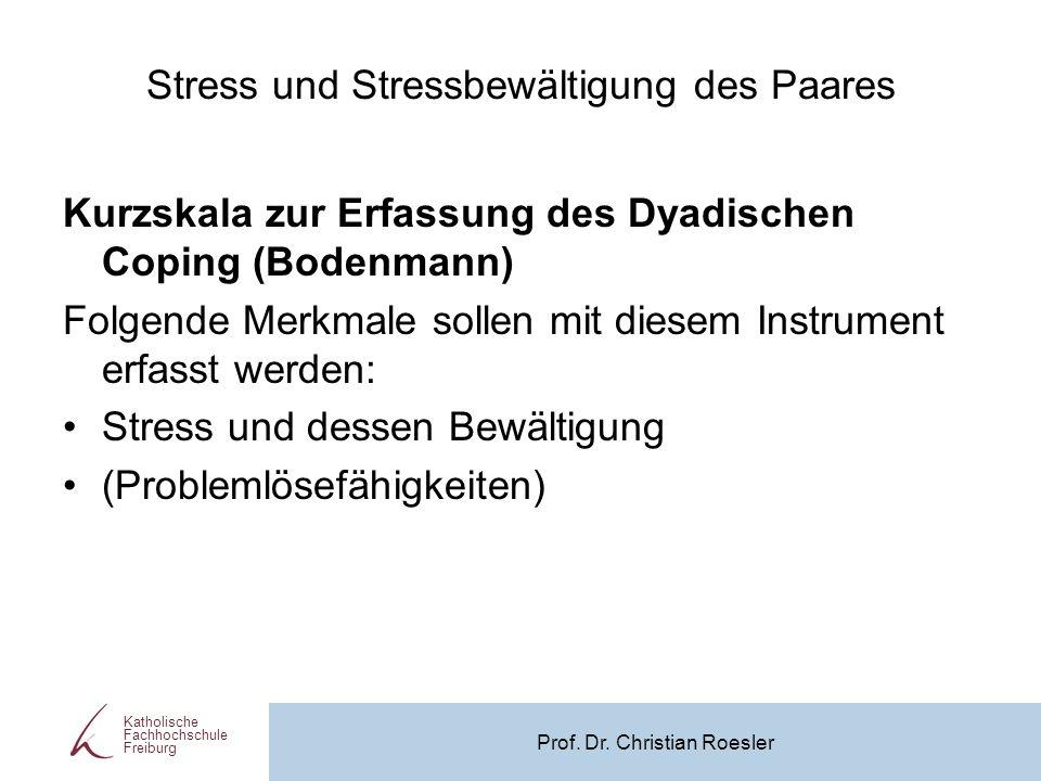 Stress und Stressbewältigung des Paares