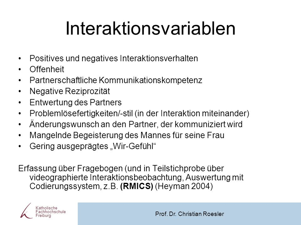 Interaktionsvariablen