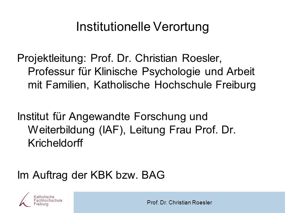 Institutionelle Verortung