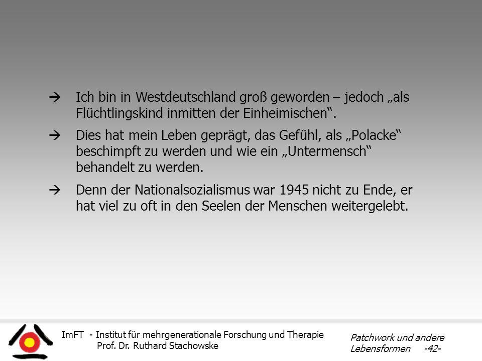 """Ich bin in Westdeutschland groß geworden – jedoch """"als Flüchtlingskind inmitten der Einheimischen ."""