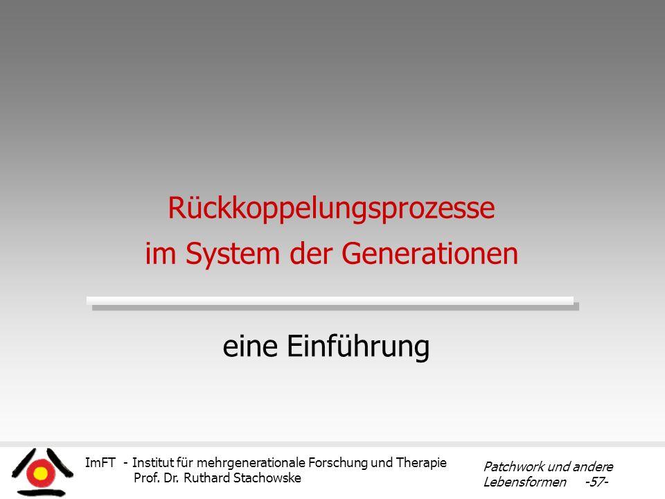 Rückkoppelungsprozesse im System der Generationen
