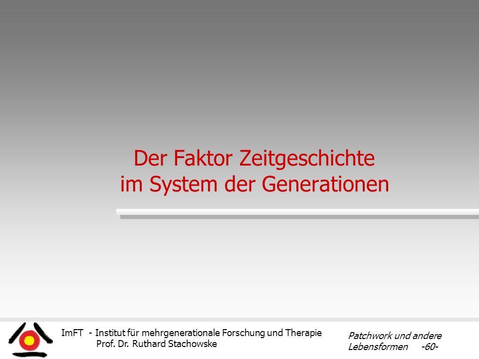 Der Faktor Zeitgeschichte im System der Generationen