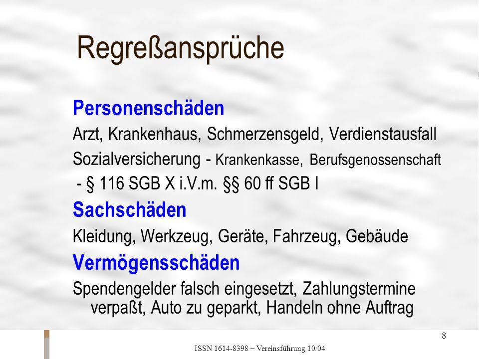 ISSN 1614-8398 – Vereinsführung 10/04