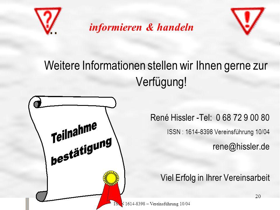 ... Weitere Informationen stellen wir Ihnen gerne zur Verfügung!