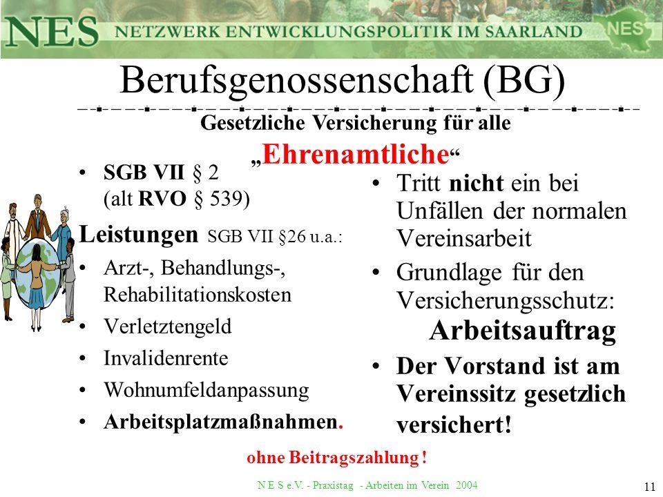 Berufsgenossenschaft (BG)