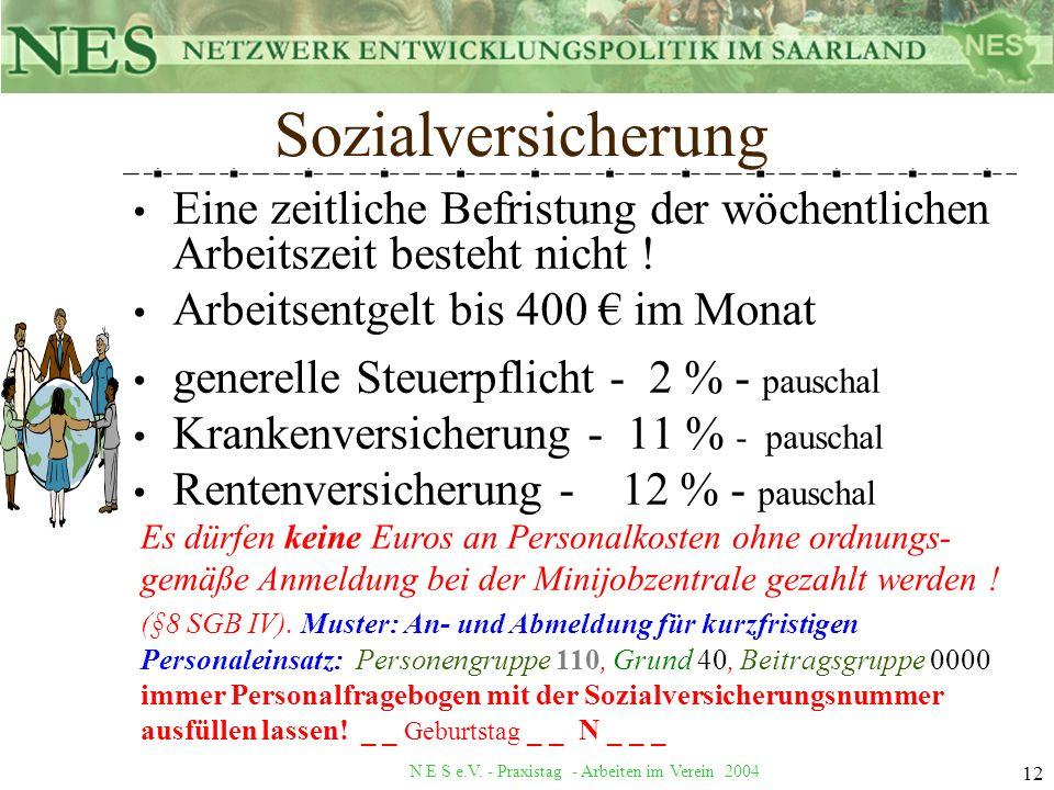 N E S e.V. - Praxistag - Arbeiten im Verein 2004