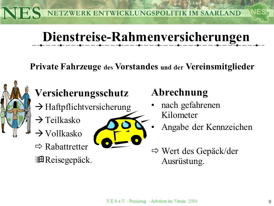 Dienstreise-Rahmenversicherungen