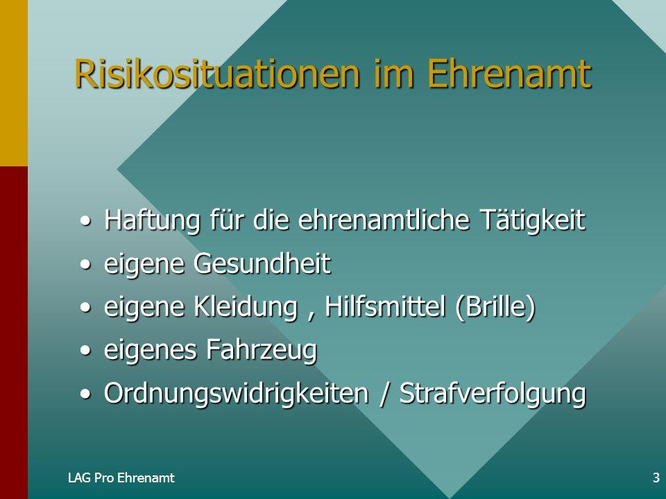 Risikosituationen im Ehrenamt