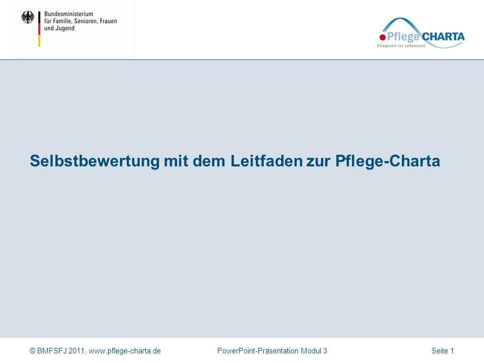 Selbstbewertung mit dem Leitfaden zur Pflege-Charta