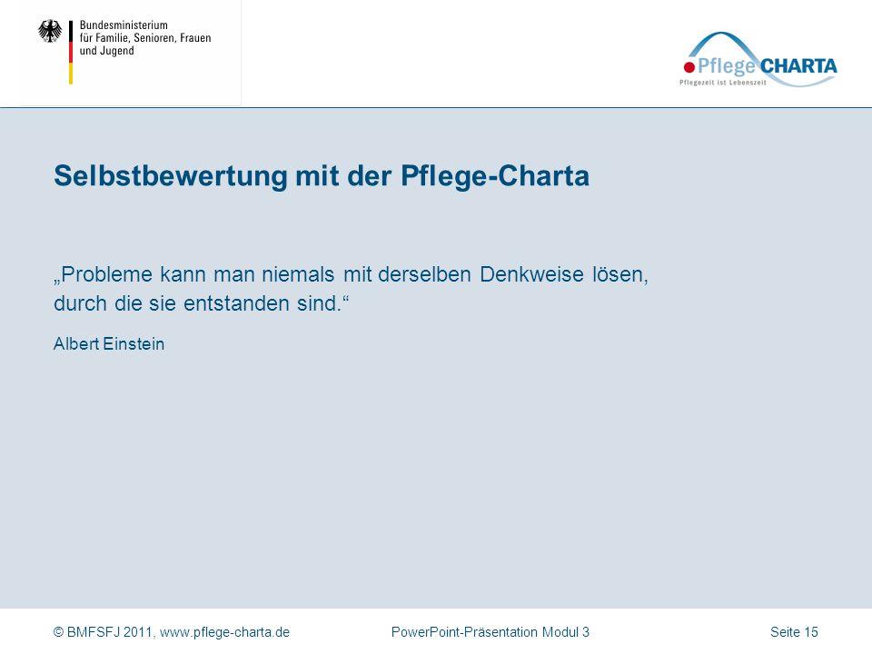 Selbstbewertung mit der Pflege-Charta