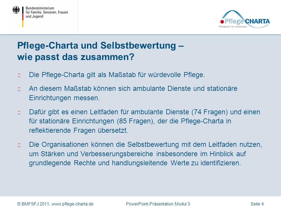 Pflege-Charta und Selbstbewertung – wie passt das zusammen