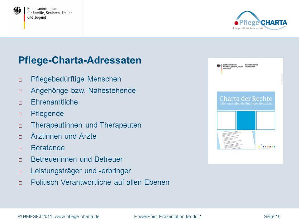 Pflege-Charta-Adressaten