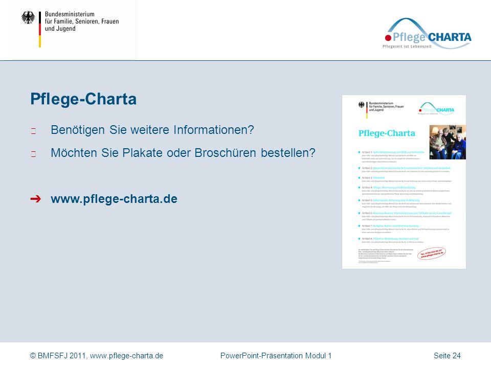 Pflege-Charta Benötigen Sie weitere Informationen