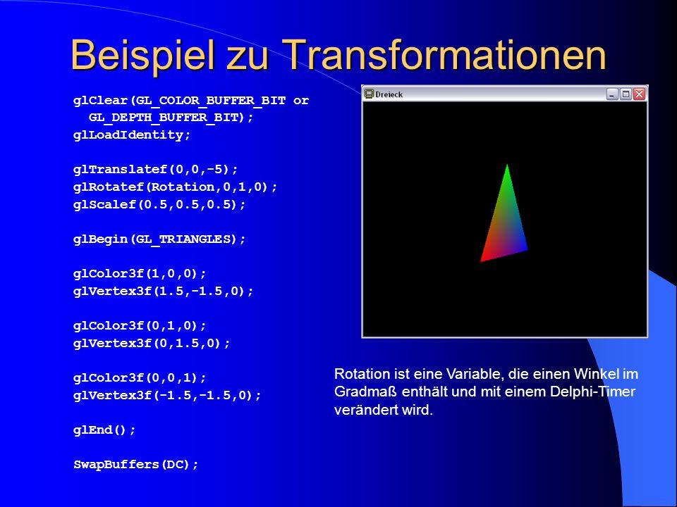 Beispiel zu Transformationen