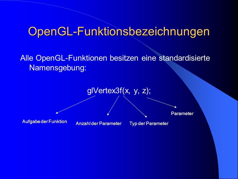 OpenGL-Funktionsbezeichnungen