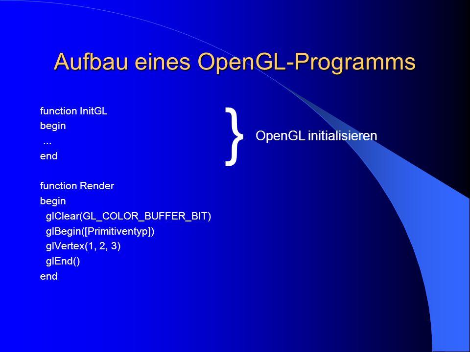 Aufbau eines OpenGL-Programms