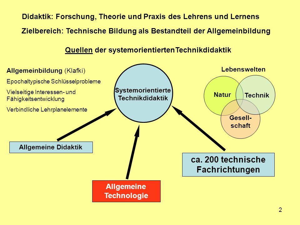 Quellen der systemorientiertenTechnikdidaktik