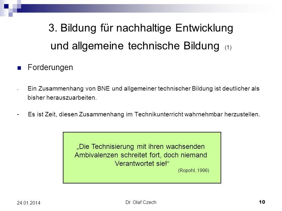 3. Bildung für nachhaltige Entwicklung und allgemeine technische Bildung (1)