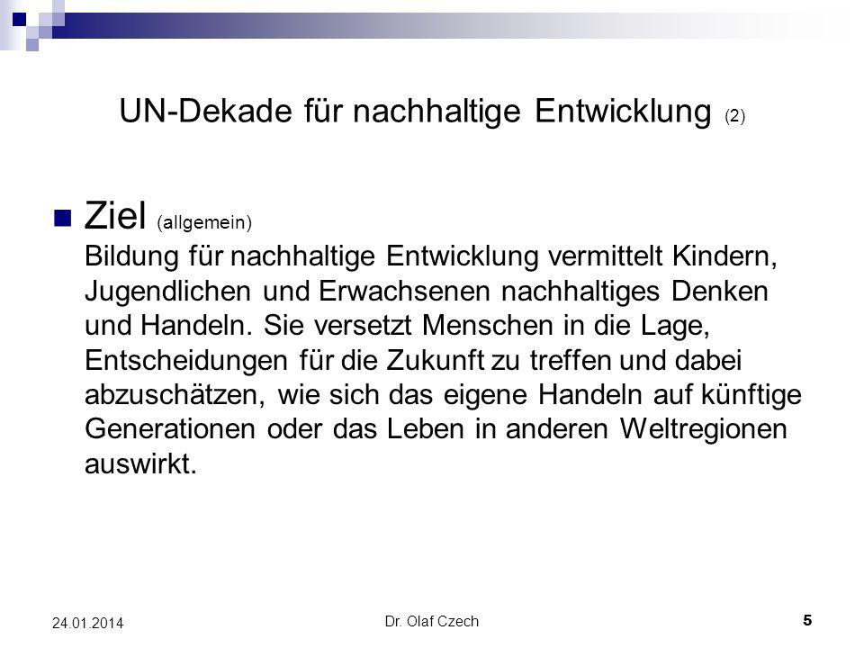 UN-Dekade für nachhaltige Entwicklung (2)