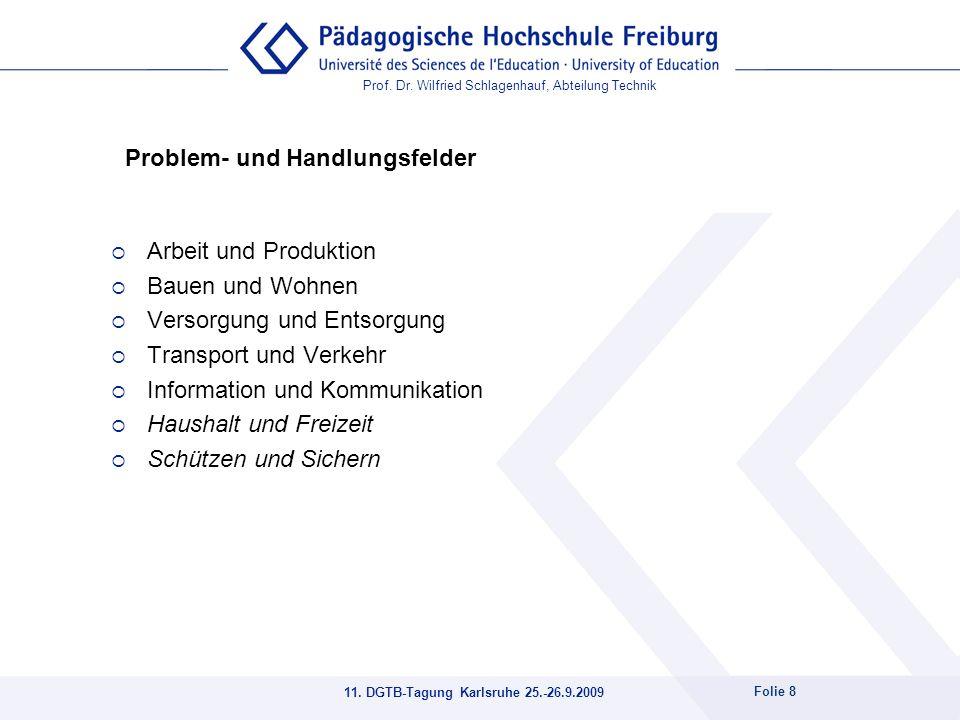 11. DGTB-Tagung Karlsruhe 25.-26.9.2009