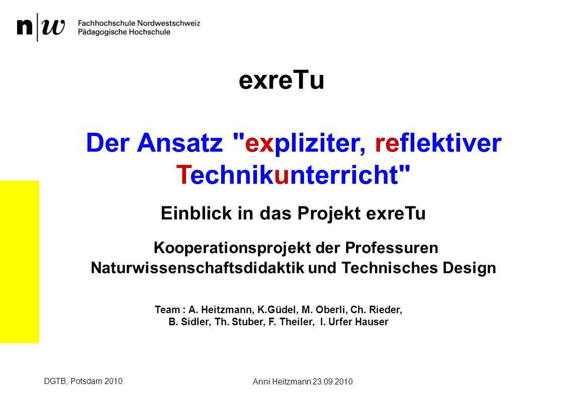 exreTu Der Ansatz expliziter, reflektiver Technikunterricht