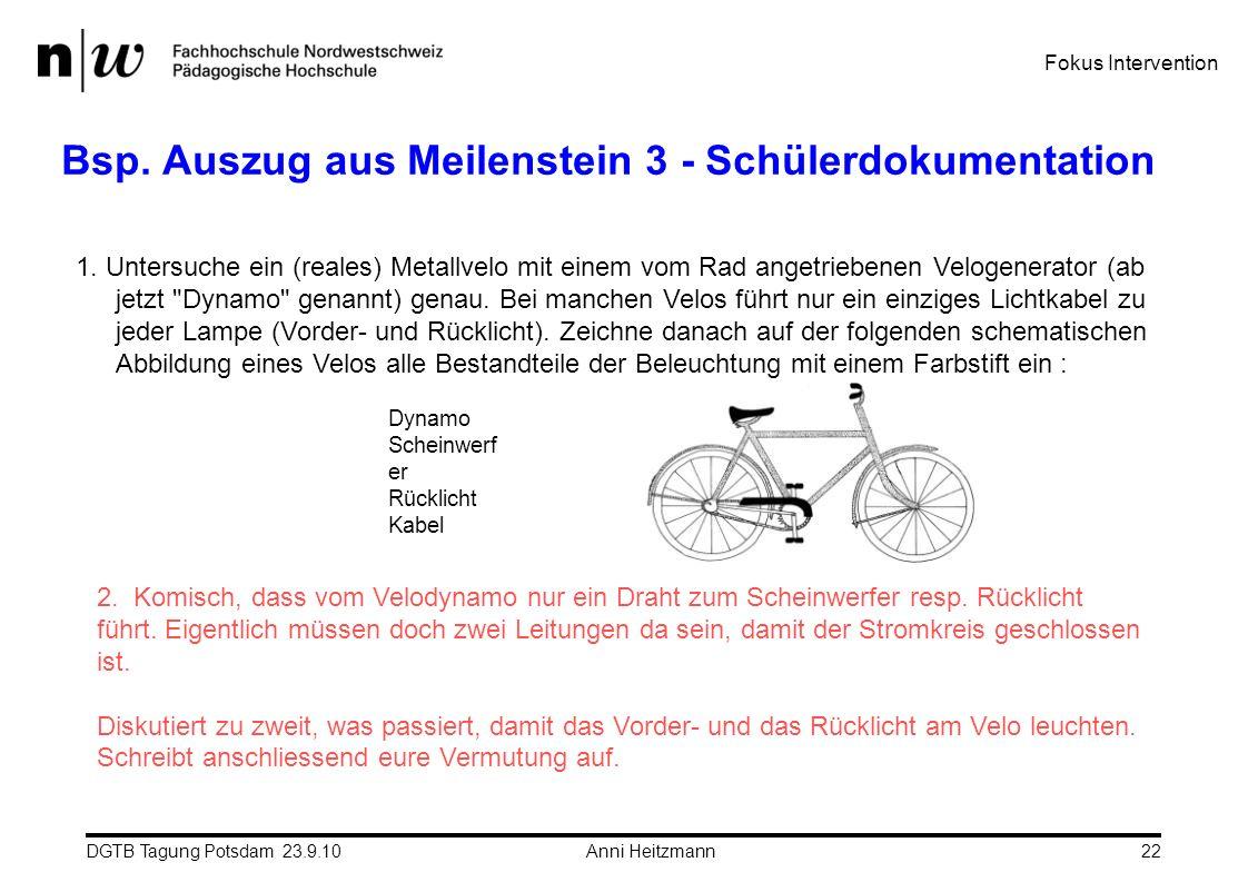 Bsp. Auszug aus Meilenstein 3 - Schülerdokumentation