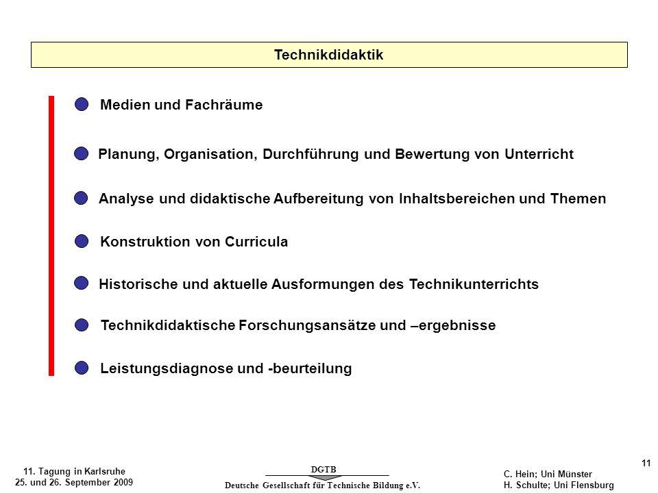 Planung, Organisation, Durchführung und Bewertung von Unterricht