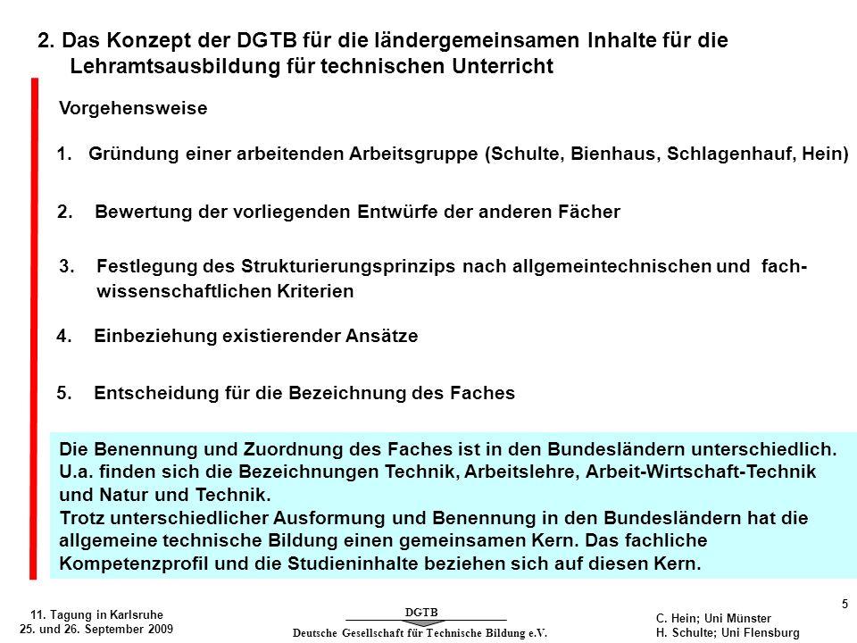2. Das Konzept der DGTB für die ländergemeinsamen Inhalte für die Lehramtsausbildung für technischen Unterricht