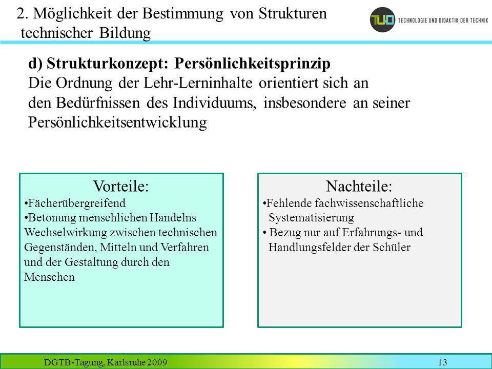 2. Möglichkeit der Bestimmung von Strukturen technischer Bildung
