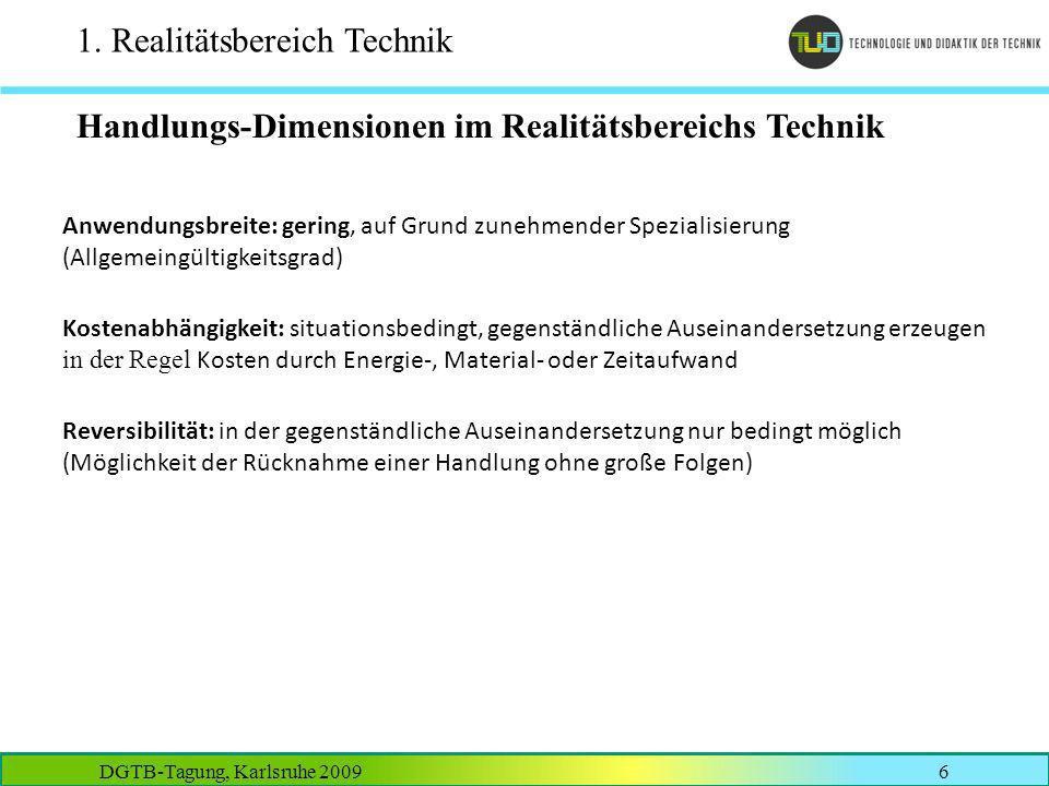 1. Realitätsbereich Technik
