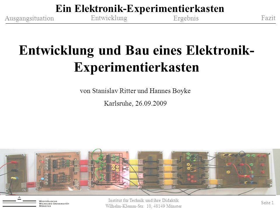 Entwicklung und Bau eines Elektronik- Experimentierkasten