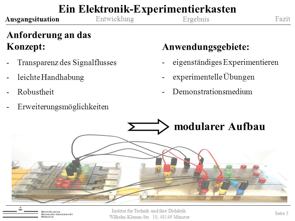 Ein Elektronik-Experimentierkasten