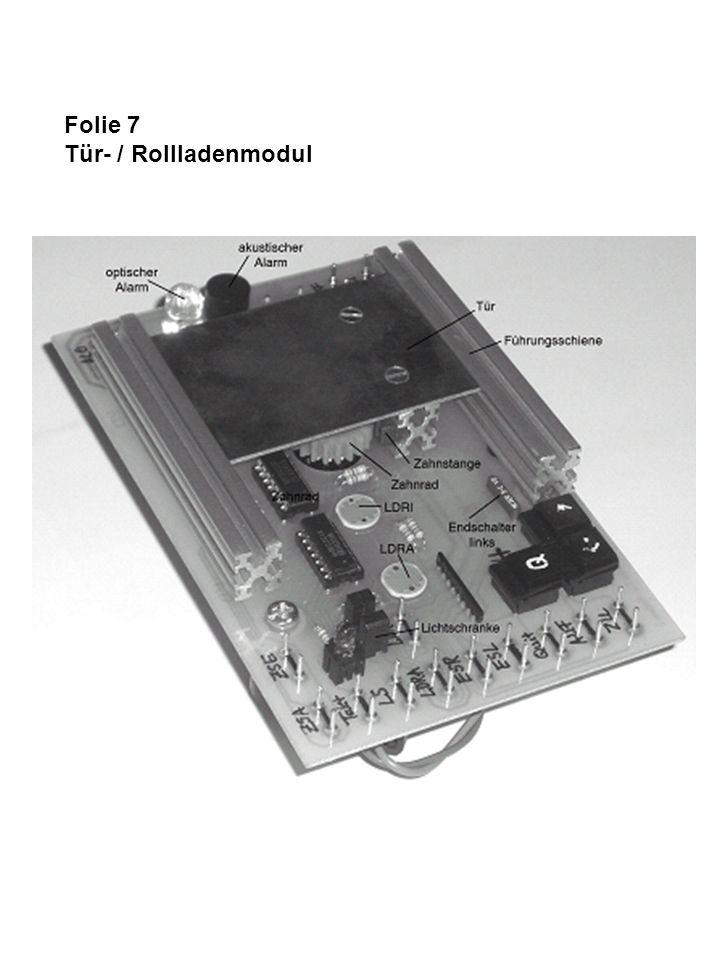 Folie 7 Tür- / Rollladenmodul