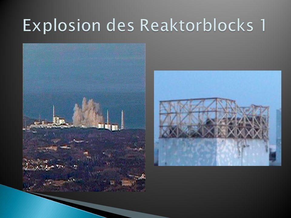 Explosion des Reaktorblocks 1