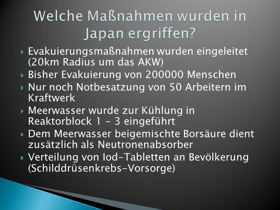 Welche Maßnahmen wurden in Japan ergriffen