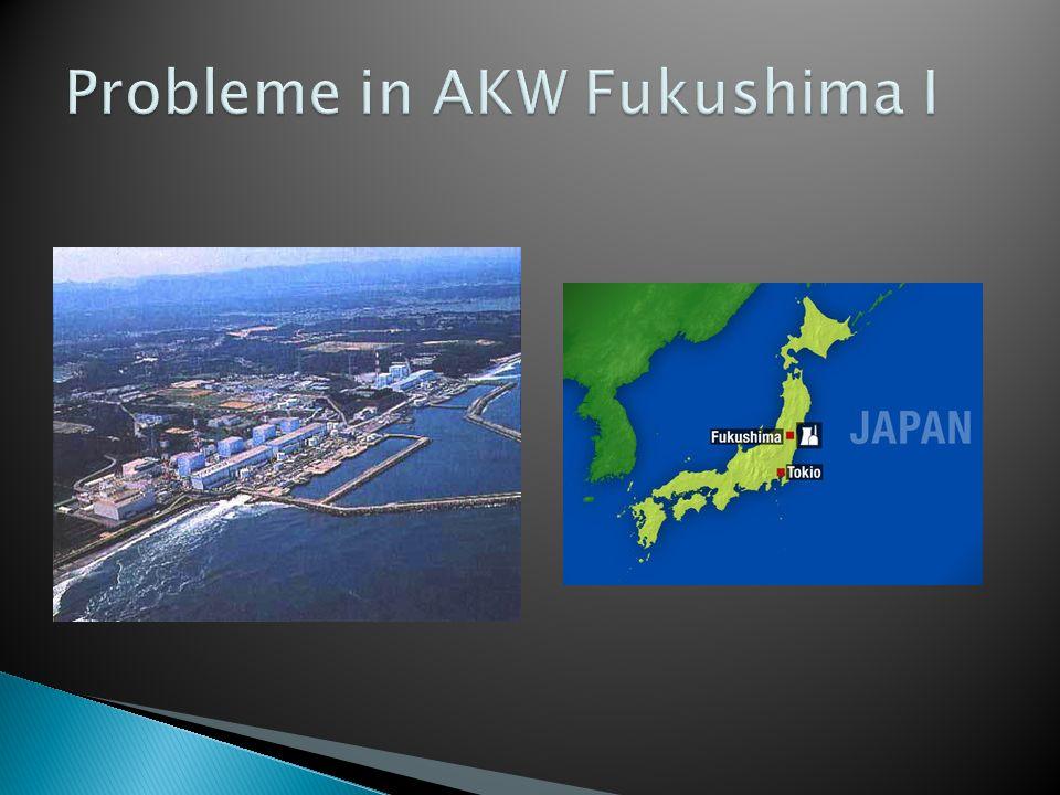 Probleme in AKW Fukushima I