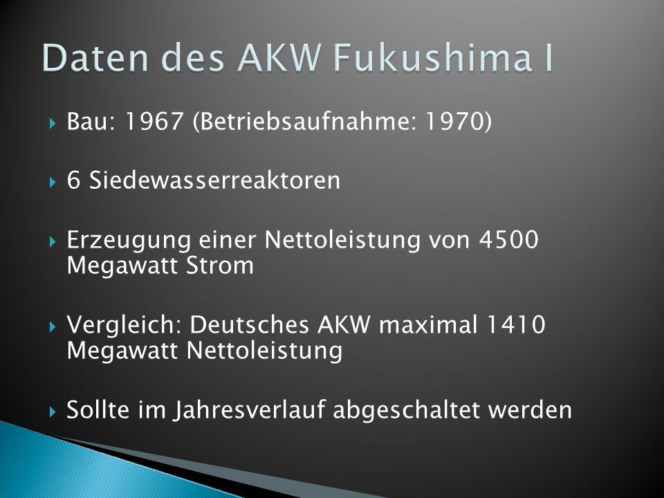 Daten des AKW Fukushima I